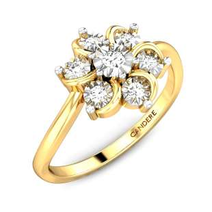 Floral Petals Miracle Plate Diamond Ring