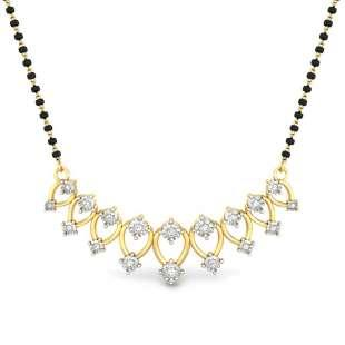 Pretty Lady Miracle Plate Diamond Mangalsutra Pendant